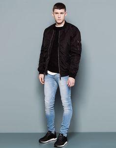 Pull&Bear - hombre - jeans - jeans super skinny fit - azul clar - 05682526-I2014 Pantalones por que es muy bonita en mi.