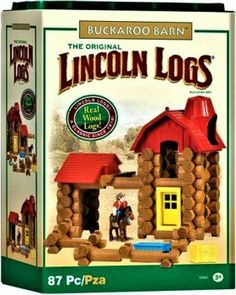 Lincoln Logs ~ Buckaroo Barn (130 pieces)