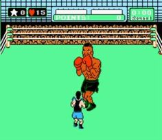 'Mike Tyson's Punch Out' a game created in 1987 for the NES. Obviously inspired by the youngest world champion in the history of the sport - Mike Tyson (padgadget, Punch Out Nintendo, Old Nintendo Games, Nes Games, Arcade Games, Nintendo Switch, Vintage Video Games, Classic Video Games, Retro Video Games, Power Glove