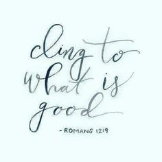 Let love be without dissimulation. Abhor that which is evil; cleave to that which is good.  Romans 12:9 KJV