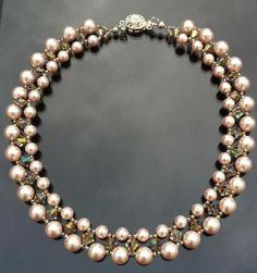 Collar Swarovski Perlas con Cristales por querer