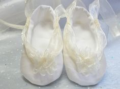 Ivory Satin Baby Ballet Baptism Christening Special by BabysDay, $26.00