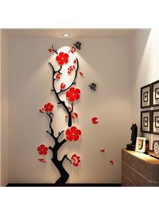 Superbe fleur de prunier 3D Stickers muraux