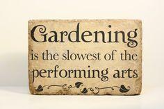 Rustic Garden Decor. Tumbled (concrete) stone paver. Garden Decor. Home Decor. Bookend. on Etsy, $18.00