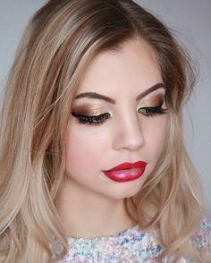 #glitter #blonde #makeup