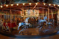 Topeka Kansas Gage Park Carousel plays Lavenders Blue