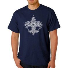 Los Angeles Pop Art Men's T-shirt - Boy Scout Oath, Size: Medium, Blue