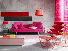 Industrial Pink.  Beautiful Vibrant Room.