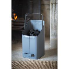 Fireside Coal Scuttle Storage Bucket In Charcoal