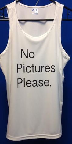 No Pictures Please Inspired Tank by SweetTeesNow on Etsy, $16.99