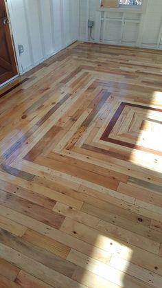 Pallet Floor in My Cottage Out Back Flooring Pallet Projects Pallet Huts, Cabins…