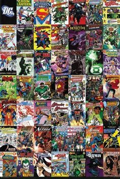 DC COMICS COVERS POSTER Collage RARE HOT NEW 24x36