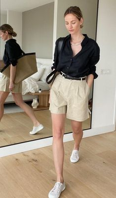 Basic Outfits, Cute Casual Outfits, Short Outfits, Casual Chic, Summer Outfits, Look Fashion, Daily Fashion, Fashion Outfits, Jupe Short