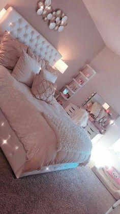 Light Pink Room Decor Bedroom Decor Pink Bedroom Design with Cute Room Decor Girl Bedroom Designs, Room Ideas Bedroom, Teen Bedroom Colors, Teen Room Designs, Ikea Bedroom, Bedroom Themes, Master Bedroom, Princess Bedroom Decorations, Teen Bedroom Furniture