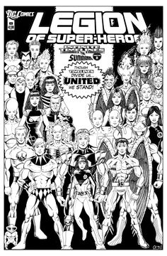 Legion of Superheroes Homage to JSA Issue 38 ( Infinite Timelines : The Summoning - Chapter 8 ) | Alex Garcia, artist; Russell Payne, finisher