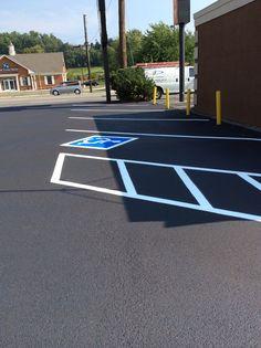 Handicap Parking lot Striping Pavement Seal coat Knoxville, TN 865-680-9225 Asphalt Repair Pavement Marking Oak Ridge TN