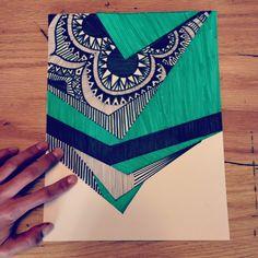 Geometric, zentangles Zentangle Patterns, Zentangles, Art Class Rules, Doodle Doodle, Tangle Art, Doodle Designs, Art And Architecture, Art Tutorials, Drawing Ideas