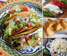 A recipe for classic ground beef American-style tacos, with crispy tortilla shells.