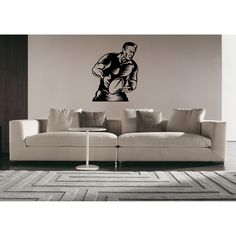 Silhouette Ball Rugby Football Rugby league Wall Art Sticker Decal