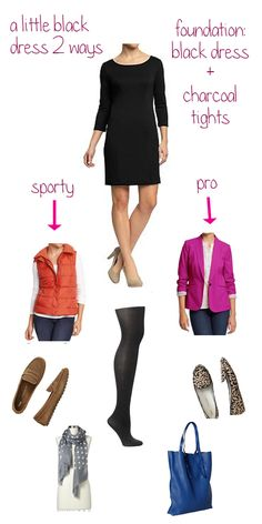 Two ways to style a little black dress...in a snap!