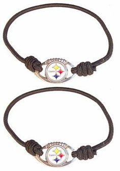 NFL Pittsburgh Steelers Stretch Bracelet/Hair Tie Set by aminco. $5.58. Cheer on your team in style with Aminco's Stretch Bracelet/Hair Tie Set. Contains two bracelets that can be used as hair ties.. Save 63%!