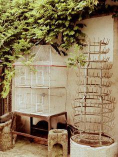 French flea market birdcage and bottle holder FleaingFrance
