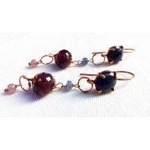 Beautiful ruby and sapphire earrings...sex energy linked together with smooth diplomatic abilities...killer combination