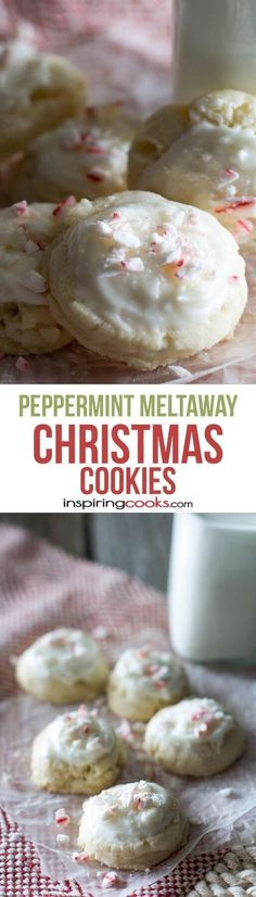 These peppermint meltaways are the perfect Christmas cookies because they are easy to make and melt in your mouth!