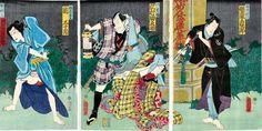 豊原 國周 (とよはら くにちか)    天保6年(1835) ~ 明治33年(1900)        号は一鶯齋
