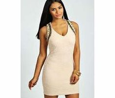 boohoo Kasie Embellished Textured Bodycon Dress - blush Textures and beaded trims take this bodycon dress to new style heights for the new season. Style it statement with an embellished clutch , skyscraper heels and a bold lip . http://www.comparestoreprices.co.uk/dresses/boohoo-kasie-embellished-textured-bodycon-dress--blush.asp