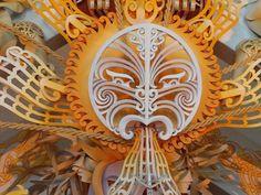 maori sun god by Cliff Whiting Nz Art, Art For Art Sake, Maori Patterns, Loom Patterns, Tattoo Hurt, Maori People, Polynesian Art, Maori Designs, New Zealand Art