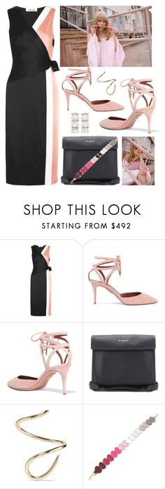 """Colorblock + Wrap"" by cherieaustin on Polyvore featuring Diane Von Furstenberg, Aquazzura, Balenciaga, Jennifer Fisher, Anya Hindmarch and Anita Ko"