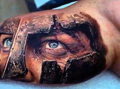 Blue Eyed Viking Tattoo Mens Inner Biceps
