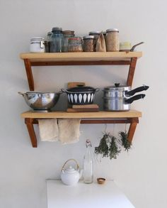 Kitchen Wood Wall Shelves | The Best Wood Furniture