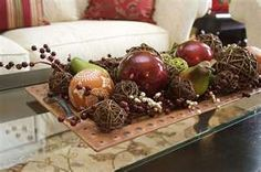Easy ways to prepare your home for fall - April Force Pardoe Interiors Cozy Home Decorating, Decorating Coffee Tables, Decorating Ideas, Holiday Decorating, Decor Ideas, Craft Ideas, Coffee Table Arrangements, Coffee Table Centerpieces, Flower Arrangements
