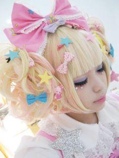cute kawaii hair