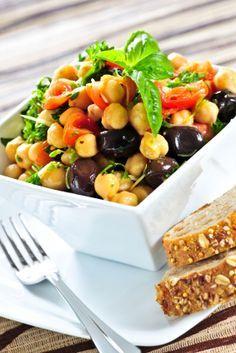 Receta de Ensalada de Garbanzo | #receta #ensalada #garbanzo