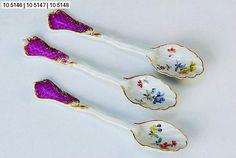 Translucent Porcelain Royalton China Co Fine Porcelain, Porcelain Ceramics, Painted Porcelain, Spoon Collection, Antique Tea Cups, Ceramic Spoons, Tea Strainer, Tea Accessories, Vintage Tea