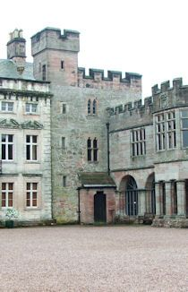 Hutton In The Forest Hall. Fortified tower with large country-house extensions…