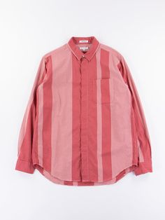 Buy Red/White Mini Gingham Big Stripe Short Collar Shirt by Engineered Garments online at The Bureau Belfast with worldwide shipping.