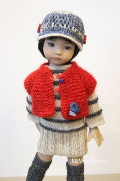 """R&M DOLLFASHION OOAK WINTER LINE outfit for LITTLE DARLING EFFNER 13"""" doll"""