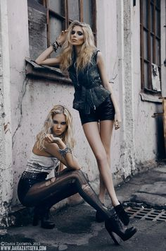 Two model pose, mask session inspiration