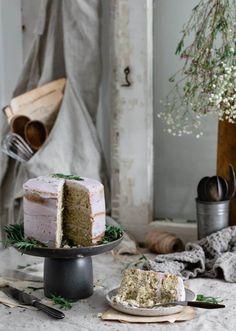 Lavender Vanilla Poppy Seed Cake | #lavendercake #lavenderbuttercream #lavendervanilla #poppyseedcake #layercake #cake #vanillapoppyseed #dessert | twocupsflour.com