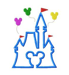 Castle Embroidery Applique Design by OMAdigitizing on Etsy
