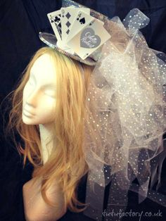 images of mad hatter tutus | this veil is made of a silver fever top hat