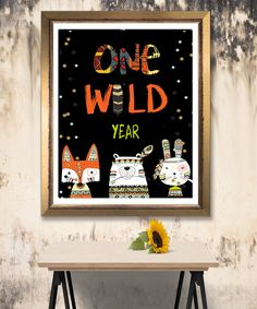 Tribal Wild One First Birthday Sign, Boho Woodland Animals Girl Party, Instant Download, Printable Template Editable, YOU PRINT First Birthday Sign, Wild Ones, Woodland Animals, Party Printables, Birthday Celebration, First Birthdays, Printable Templates, Creative, Handmade Gifts