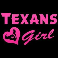 houston texans girl Window Decal