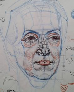 Head construction demo for a private student. Based on a painting by Christian…