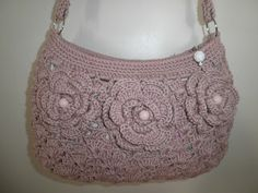 Bolsa em crochê lilás ~ Nena Artesanatos