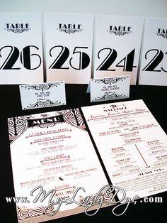 Great Gatsby Wedding Program Gatsby Invitation Art by MyLadyDye